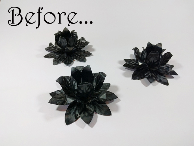 Before graphic with black flowers