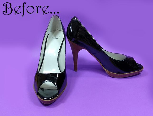 DIY burlesque shoes