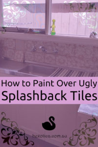 How to Paint Kitchen Splashback Tiles