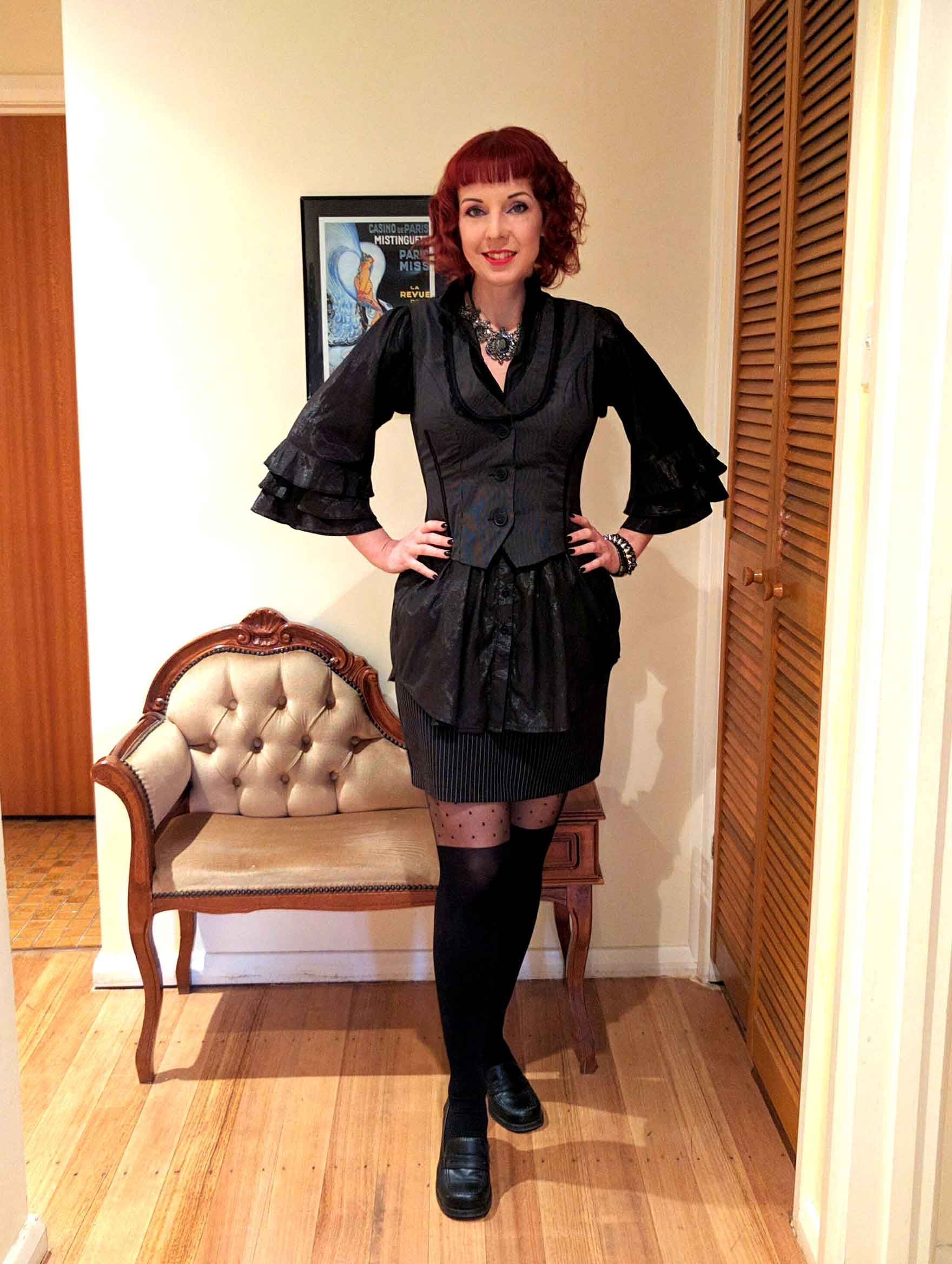 Goth outfit by Christine of Hexotica