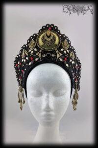 Gold and Black Egyptian Tiara Style Headdress