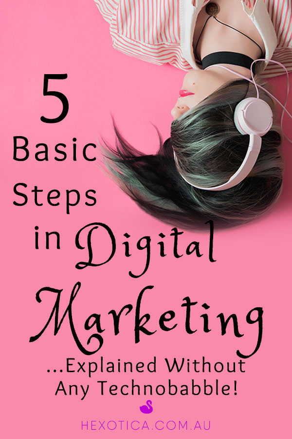 5 Basic Steps in Digital Marketing Explained Without Any Technobabble by Hexotica
